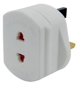 White UK Power Electric Toothbrush Shaver Plug Socket Travel Adaptor Adapter